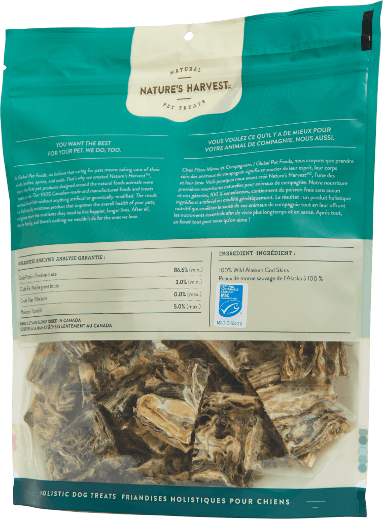 canine treat Cod Chips 250g back