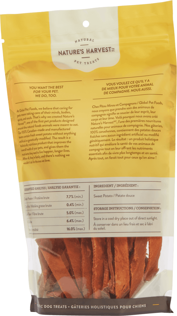 canine treat Sweet Potato Fries 354g back