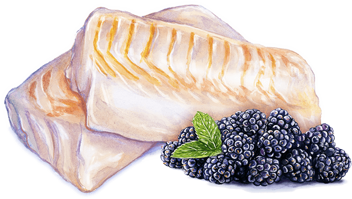 fish blackberries
